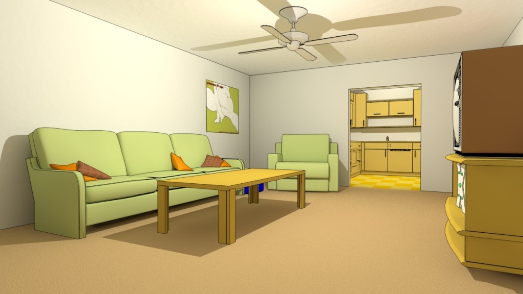 Inside House Cartoon Background The Image Kid Has It