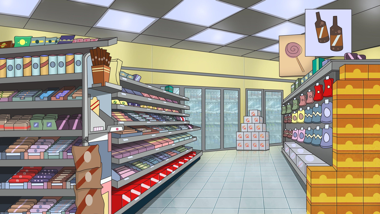 Cartoon animation background design and illustration