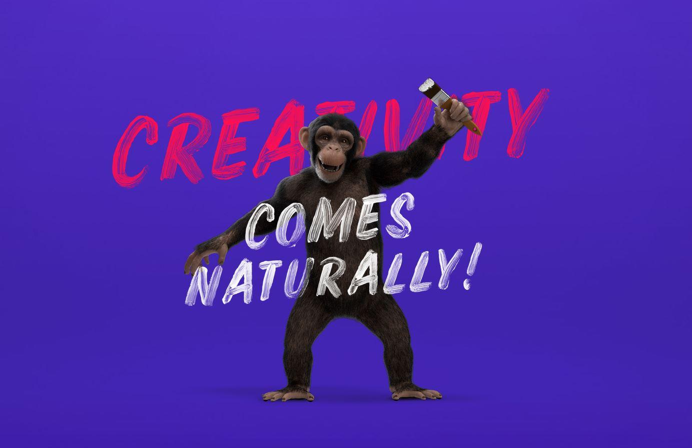 CGI 3D Chimpanzee character model