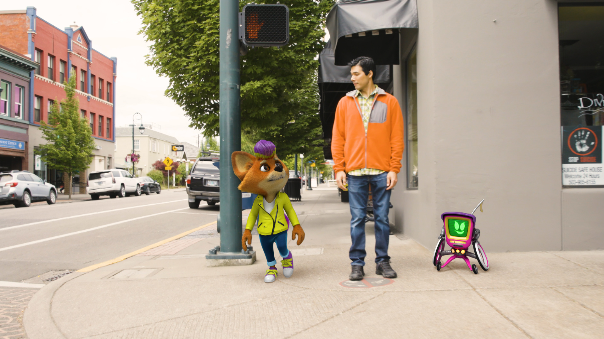 ODOT Pedestrian Safety 3D Animation Live Action Commercial
